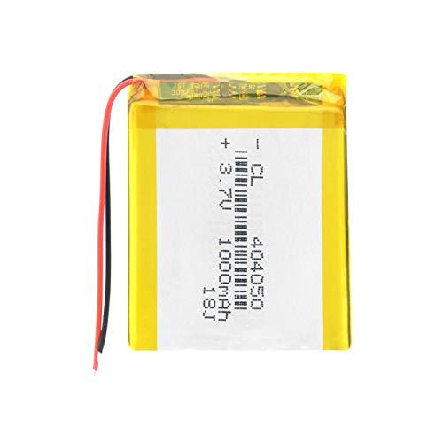 josiedf Batería De PolíMero De 3.7v 1000mah 404050 Li, Celda Recargable Protegida por PCB para El Altavoz del Auricular Bluetooth del Detector 1piece