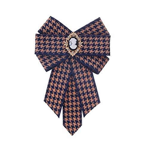 YSQSPWS Pajarita Bowtie Bows Bown Patrimonio Vestido Vintage Camisa Vintage Butterfly Corbatas Pins and Broches Kawaii Regalos for Huéspedes Mujeres Hombres Ropa y Accesorios (Metal Color : 2)