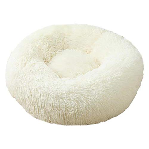 Dog Bed Pet Kennel Round Long Plush Super Soft Sleeping Bed Lounger Cat House Winter Warm Sofa Basket For Small Medium Large Dog,14,Diameter 60CM