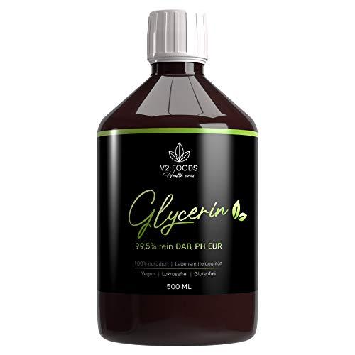 Glycerin flüssig 500ml absolut rein natürlich pflanzlich Glyzerin 99,5% DAB Qualität für DIY Desinfektion Cremes Kosmetika