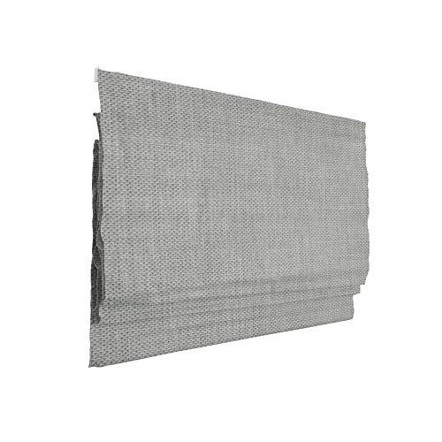 Victoria M. Ivora Raffrollo Rollo Faltrollo für Fenster und Türen, mit Schnurzug, Stabile Aluminium-Schienen, Pflegeleicht, 80 x 175 cm, grau