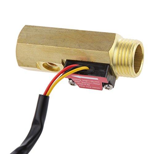 Milageto G1 / 2' Interruptor sensor de flujo de agua control del flujo del agua con detección de la temperatura