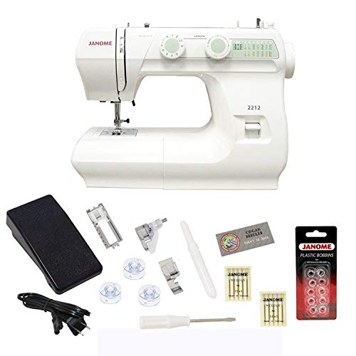 SYS Score: 9.2 Janome 2212 Sewing Machine Includes Exclusive Bonus Bundle