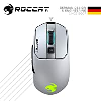 ROCCAT Kain 202 ワイヤレス Titanクリック RGB ゲーミングマウス (光学式 Owl-Eye 16K, サイドボタン, 無線) ...
