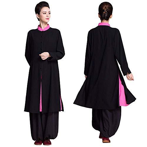 WEIFAN Damen Tai Chi Kleidung - Chinesischer Stil Doppelschicht Langer Abschnitt Robe Übungskleidung Handbuch Traditionelles Handwerk für den täglichen Gebrauch, Leistung, Tai Chi Kung Fu üben