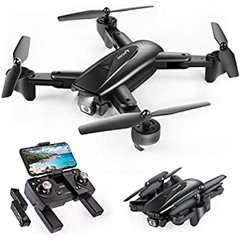 SNAPTAIN SP500 Foldable GPS FPV Drone with 1080P HD Camera Live Video for Beginners RC Quadcopter with GPS Return Home Follow Me Gesture Control Circle Fly Auto Hover & 5G WiFi Transmission