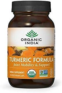 ORGANIC INDIA Turmeric Curcumin, Immune Support, USDA Certified Organic, High Bioavailability Formula, 90 Veg Capsules