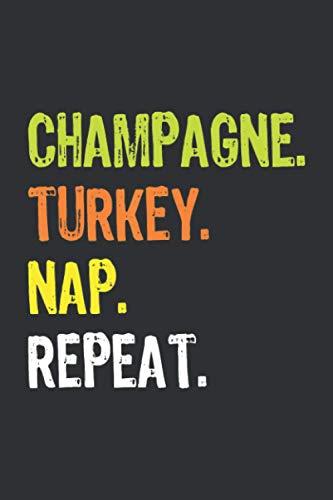 Champagne Turkey Nap Repeat (Prayer Journal): Mens Prayer Journal Black, Blank Prayer Journal