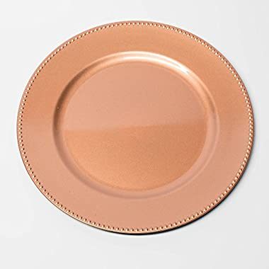 Richland Charger Plate Round Beaded 13  Rose Gold Set of 12