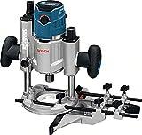 Bosch Professional GOF 1600 CE - Fresadora de superficie (1600 W, 10000 – 25000 rpm, 8/12,7 mm, vel. constante, ajuste fino de 0,1 mm, en caja)