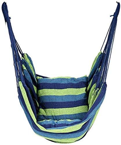 AJH Chaise hamac brésilien Chaise à Bascule en Toile avec Chaise Suspendue en Corde pour Jardin intérieur pour hamacs extérieurs