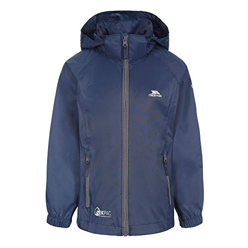 Trespass Kinder Regenjacke Qikpac X (98) (Marineblau/Carbon)