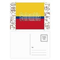 コロンビア国の旗の名 公式ポストカードセットサンクスカード郵送側20個