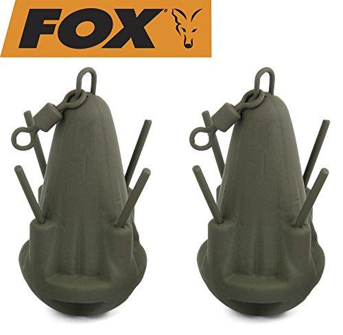 FOX Grappling Marker Leads - 2 Lotbleie, Karpfenbleie zum Ausloten, Auslotbleie, Tastbleie, Gewicht:113g