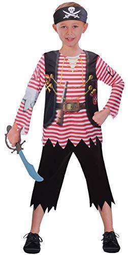 Brandsseller Jungen Kostüm Verkleidung Fasching Karneval Party - Pirat, S