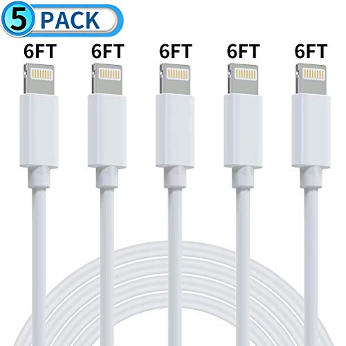 Mfi Certified iPhone Charger Actionpie, 5Pack (6FT/2M) Lightning Cable iPhone Cable USB Fast Long iPhone Charging Cords Compatible iPhone 11 Pro Max Xs X XR 8 7 6s 6 SE iPad iPod More