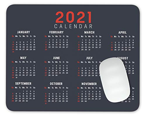 Mauspad mit Kalender für das Jahr 2020, für Büro, Gaming (in englischer Sprache)