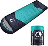 CANWAY Sleeping Bag with Compression Sack, Lightweight and Waterproof for Warm & Cold