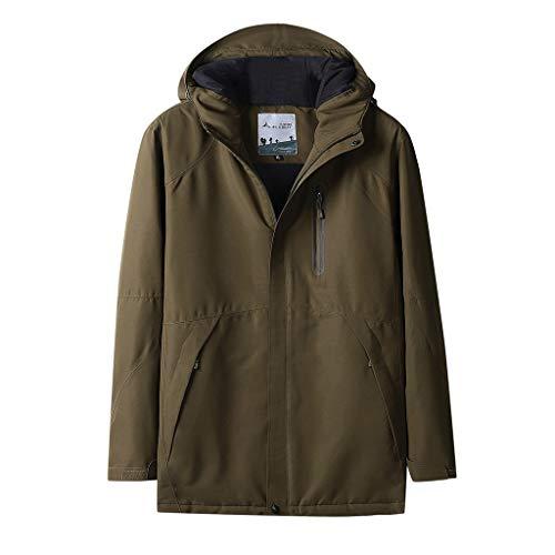 DREI-Geschwindigkeits Temperaturregelung USB-Ladeheizung Warme Jacke KaloryWee Männer Herbst Winter Coat Exklusiv Einzigartiger Wintermantel