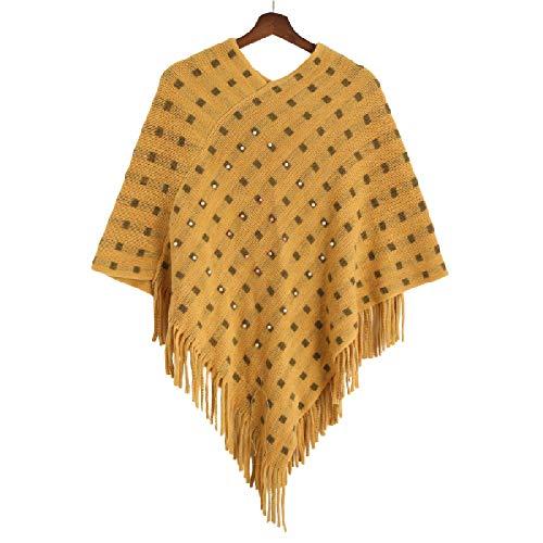 Invierno Mujer Bufanda Señora Gorras Grueso Abrigo Cálido Tejido Elástico
