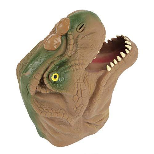 Marioneta de mano de dinosaurio, Marioneta de cabeza de dinosaurio suave, Niños, Historias interactivas Juguete de títere de mano, Juego de roles interesante (Mano azul)