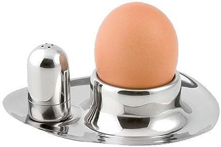 Preisvergleich für Weis Eierbecher-Set mit Streuer, Edelstahl, Silber 9 x 11 x 4 cm