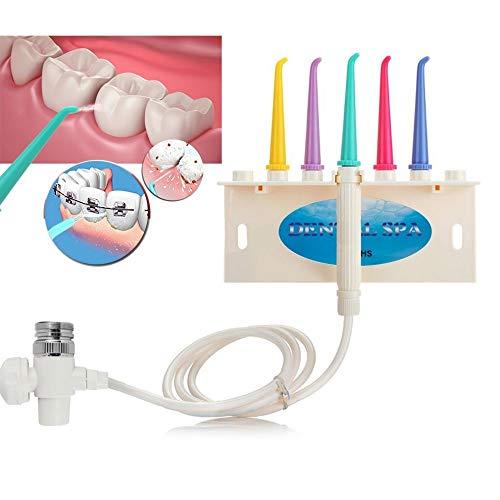 FANPING Hahn Flusher, Dusche Schaber-Zahn-Mundpflege Zahnreiniger-Hahn-Zahn-Surfer mit 5 Düsen Haushalt beweglichem Wasser Fließt