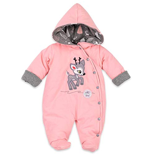 Koala Baby Winter Overall Mädchen | Farbe: rosa | Baby Schneeanzug mit Kapuze für Neugeborene & Kleinkinder | Größe: 3 Monate (62)