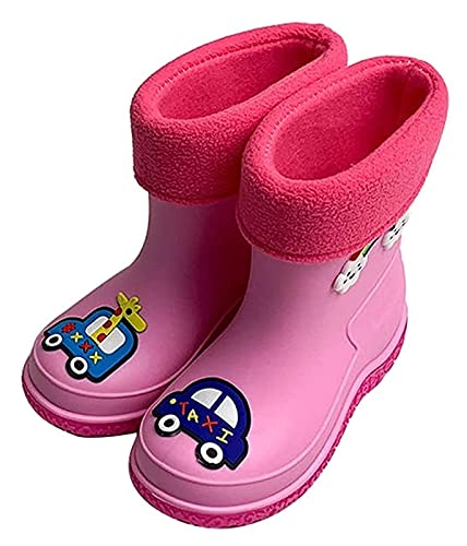 Botas de lluvia para mujeres Botas de lluvia de los niños rosados Estudiante Año antideslizante Zapatos de agua para niños y niñas Dibujos animados de cuatro estaciones Botas de lluvia Botas de jard
