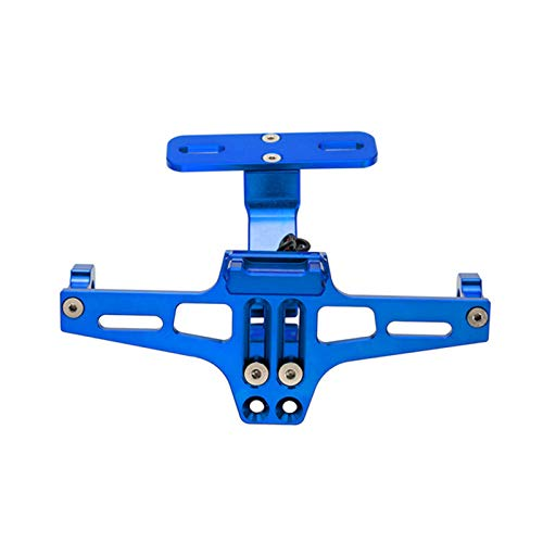 Motorcycle License Plate, Tailstock End Plate And Mud Remover, Adjustable Expansion, Suitable for Yamaha, for Kawasaki, for Honda, for Suzuki, for BMW,Blue