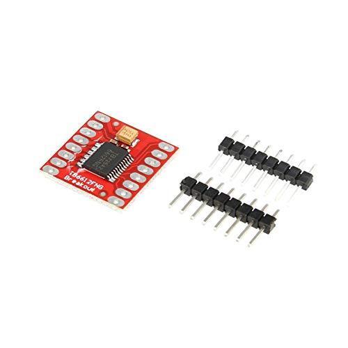 Camellia TB6612FNG Dual-DC-Schrittmotorsteuerung Antrieb Erweiterungs-Schild-Brett-Modul für Arduino Mikrocontroller Besser als L298N (rot)
