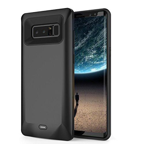 Custodia di ricarica per Galaxy Note 8, 5500mAh, sottile, ricaricabile, batteria esterna portatile, batteria di ricarica per Samsung Galaxy Note 8 (nero)