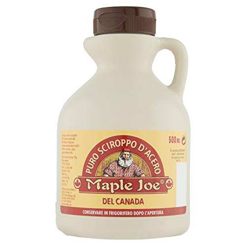Maple Joe - 100 % Puro Jarabe de Arce - Ideal para Gofres Calientes - 500 Ml
