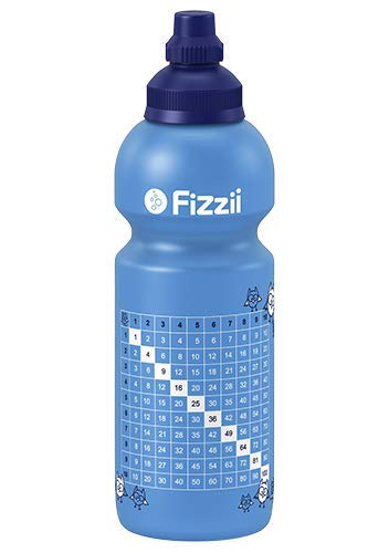 Fizzii Kinder- und Freizeittrinkflasche 600 ml (auslaufsicher bei Kohlensäure, schadstofffrei, spülmaschinenfest, Motiv: 1x1)