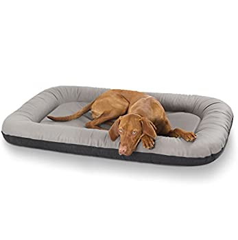 Knuffelwuff panier chien, lit pour chien, coussin, corbeille pour chien Jerry, en cuir, gris XXL 120 x 100