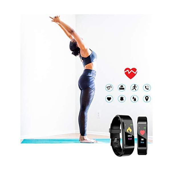 MuscleLocker Fitness Tracker, Monitor de actividad cardíaca, impermeable, pulsera inteligente con contador de pasos… 7