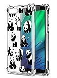 Suhctup Compatible con XiaomiMiMAX2 Funda para Silicona Transparente con Dibujos Panda Diseño Patrón Cárcasa Ultra-Fina Suave TPU Choque Cojín de Esquina Parachoque Caso-Panda 6