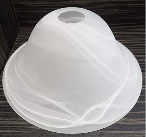 Lampenschirm Lampenglas Leuchtenglas Ø262mm - E27 Glockenform alabasterfarbig weiß