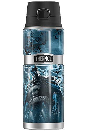 Batman Stormy Knight Lightning, Thermo King botella de acero inoxidable con aislamiento al vacío y doble pared, 24oz