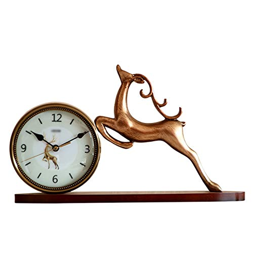 Escritorio Reloj Reloj de la mesa de resina creativa Reloj de la sala de estar de la mesa de la mesa de la mesa de la mesa de la mesa de la mesa de la batería Silent Sky Scrap. Una buena opción para r