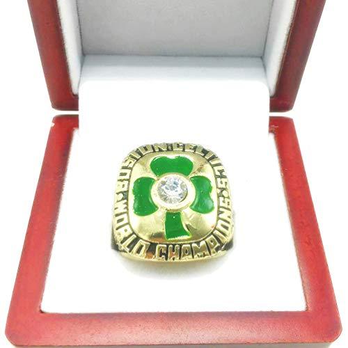 HZIH Boston Celtics Anillos de Campeonato de la NBA de Campeones 1984 Final Mundial Anillo réplica para la colección del Regalo del Recuerdo de Baloncesto Aficionado de los Hombres con la Caja