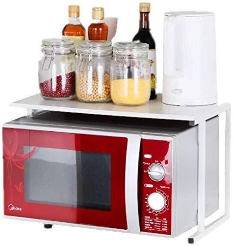 Multifunctionele storage storage rack Magnetron Oven Rack Keuken Countertop Organizer Shelf Stand 2-Tier opslag plank boven magnetron Save Space Duurzaam roestvrijstalen keuken rekken keuken rekken