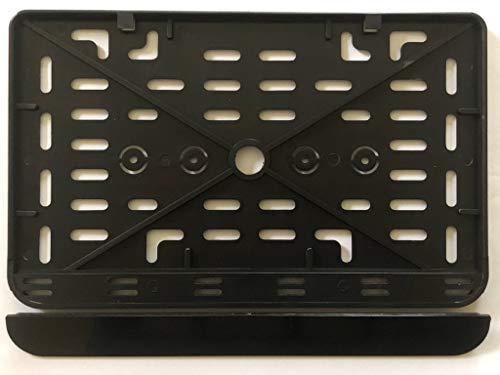 1x Kennzeichenhalter Nummernschildhalter Made in EU 240 x 130 mm 24 x 13 cm Material bruchfester ABS Kunststoff Schwarz (Unlackiert) /240/