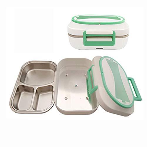 Elektrische lunchbox met verwarming, lunchbox, lunchbox met levensmiddelen, lunchbox van roestvrij staal, demonteerbaar, voor werk, voertuigen en school.