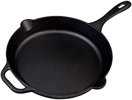 """Victoria Cast Iron 12"""" Skillet Fry Pan with Long Handle, Seasoned, Large, 12 inch"""