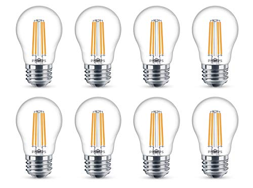 Philips LED Dimmable A15 Light Bulb: 300-Lumen, 2700-Kelvin, 4.5-Watt (40-Watt Equivalent), E26 Base, Clear, Soft White, 8-Pack