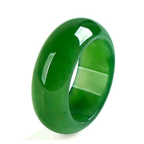 KOY Espinacas Verde Jade Band Ring Jasper Anillos