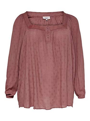 ONLY Carmakoma Womens CARLILIES LS Square Neck Shirt Blouse, Burlwood, 48