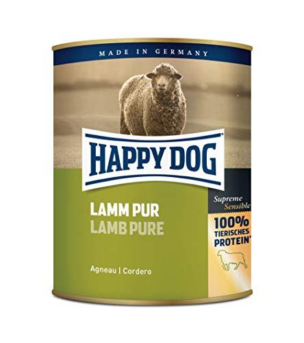 Happy Dog Fleisch Dosen Lamm Pur, 800 g, 6er Pack (6 x 800 g)