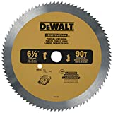DEWALT 6-1/2-Inch Circular Saw Blade for Paneling/Vinyl, 90-Tooth (DW9153) , Yellow